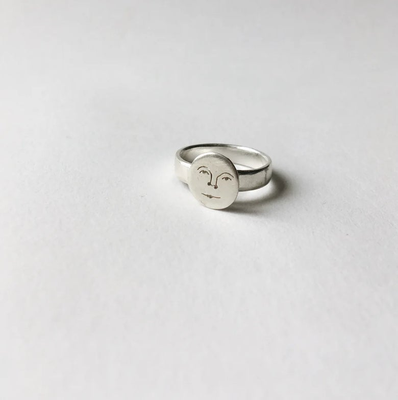 Image of mini moon face ring