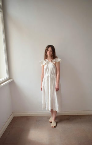 Image of LALU Linen Frilly Dress