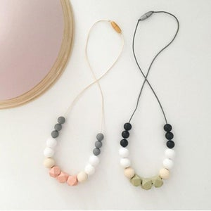 Image of POPPY Necklace - Pink/ Olive