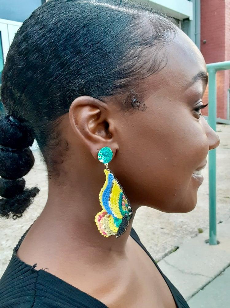 """Image of """"Butterfly Gardenia"""" Earrings"""