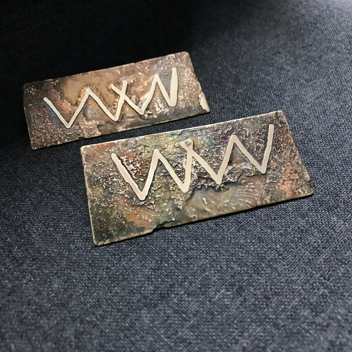 Image of Hobo Sign Brass Pin #2