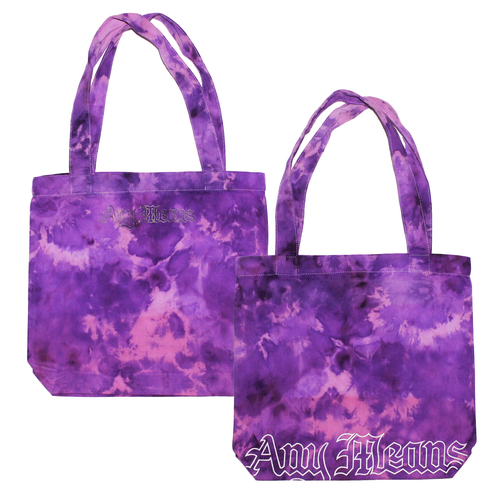 Image of Gothic Tote Bag in Purple Ice