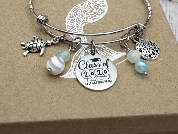 Image of Class of 2020- Adjustable Bangle- #346