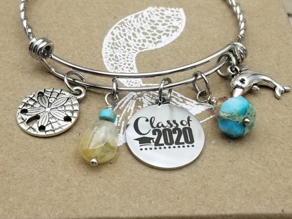 Image of Class of 2020- Adjustable Bangle- #347