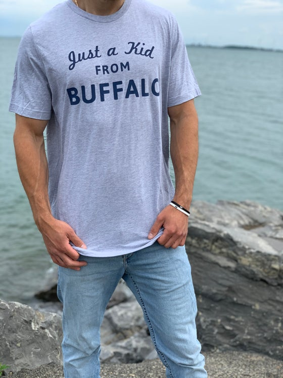 Image of Just a Kid From Buffalo Tee Light Grey