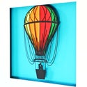Hot Air Balloon - Large Framed Papercut Picture