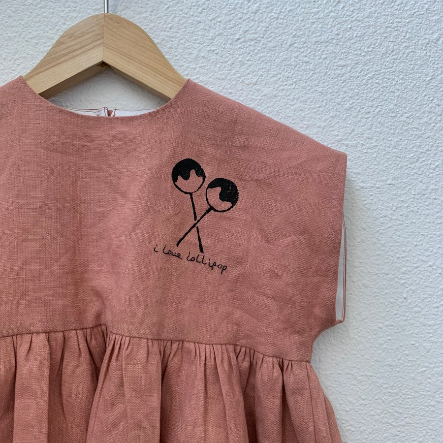 Image of Summer dress hand embroidery option