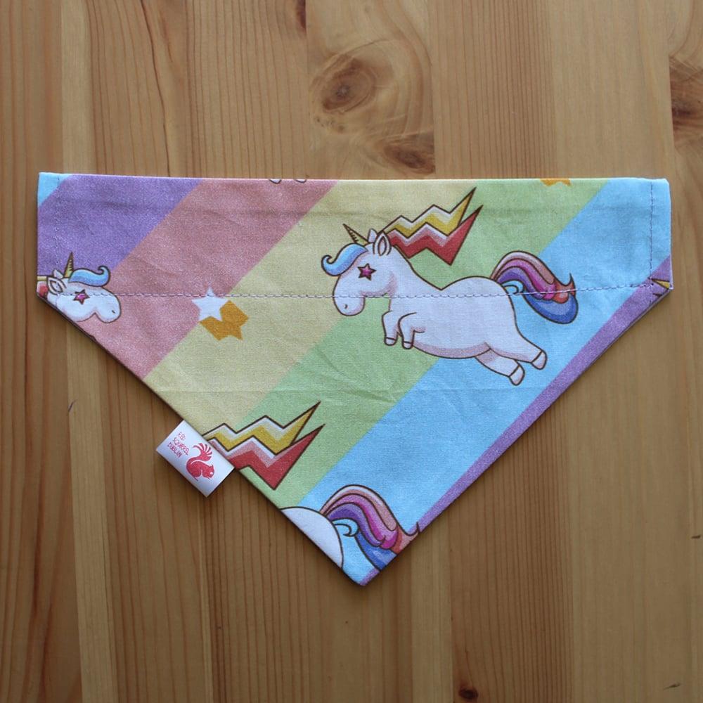 Image of Unicorns dog & cat bandana