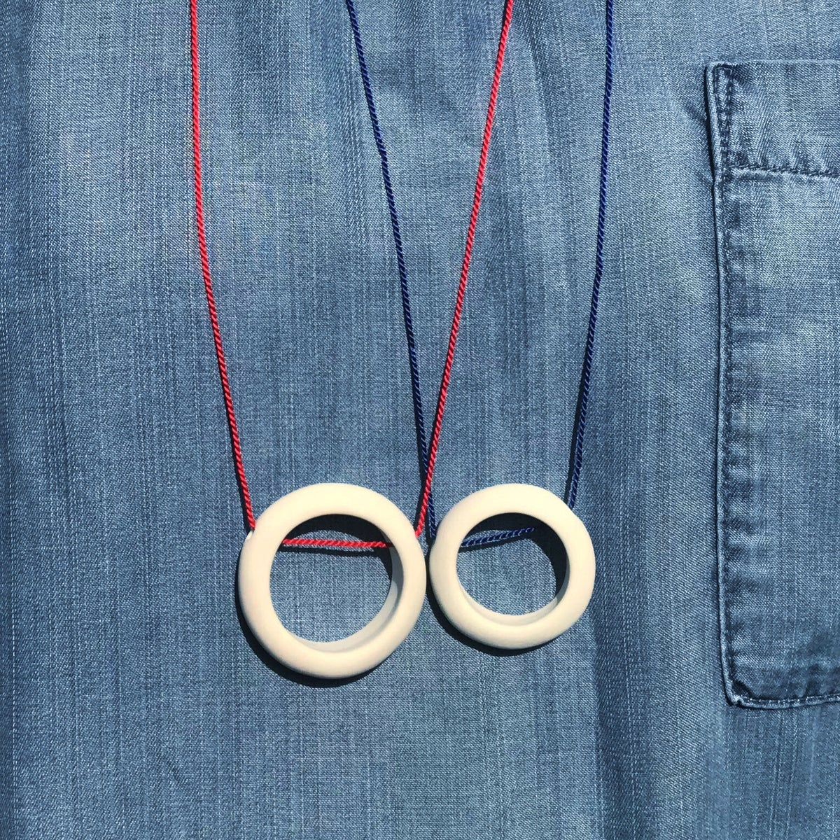 Image of White Ring Necklace