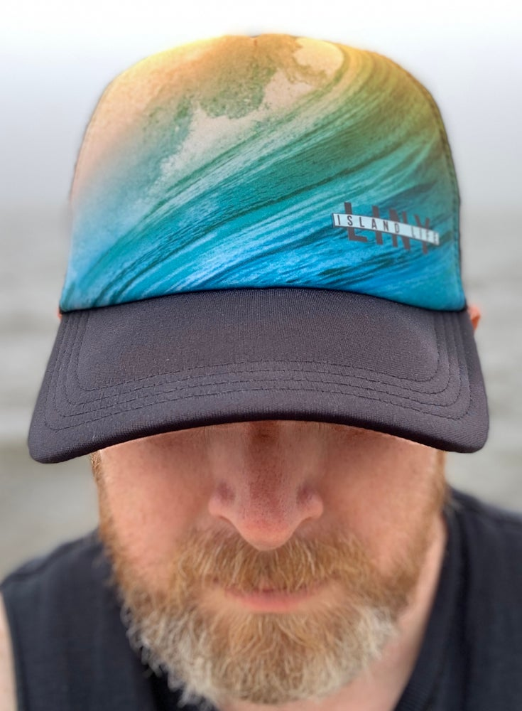 Image of Big Wave Snapback Mesh Trucker Hat