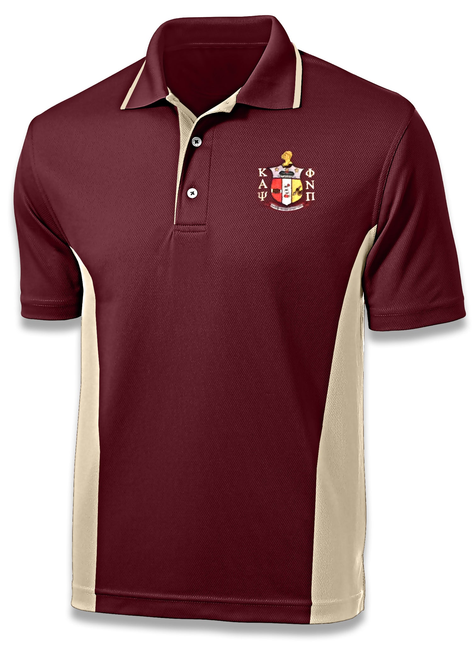 Image of COAT OF ARMS SPORT POLO - CRIMSON/CREAM TWO-TONE-CLOSEOUT