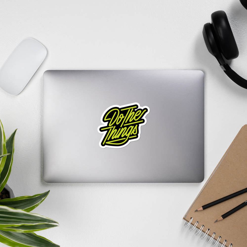 Image of Do The Things Lettering Sticker
