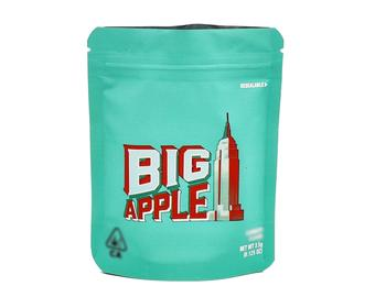 Image of Big Apple Cookies Bags Empty 3.5-7g Size Smell Proof Mylar Bags