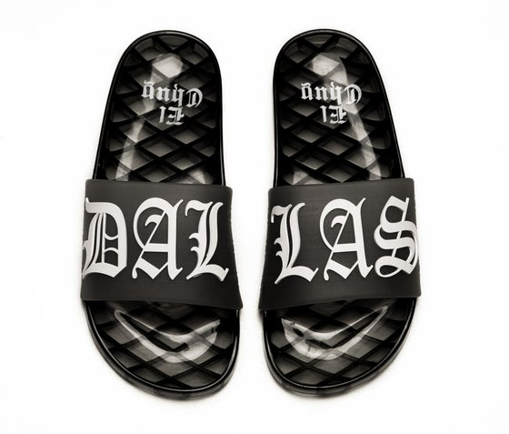 Image of DALLAS JELLY SLIDES (BLACK) PREORDER