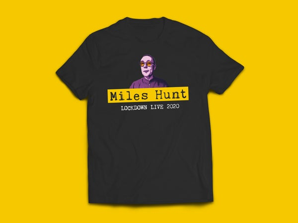 Image of Miles Hunt's Lock Down Live T-Shirt