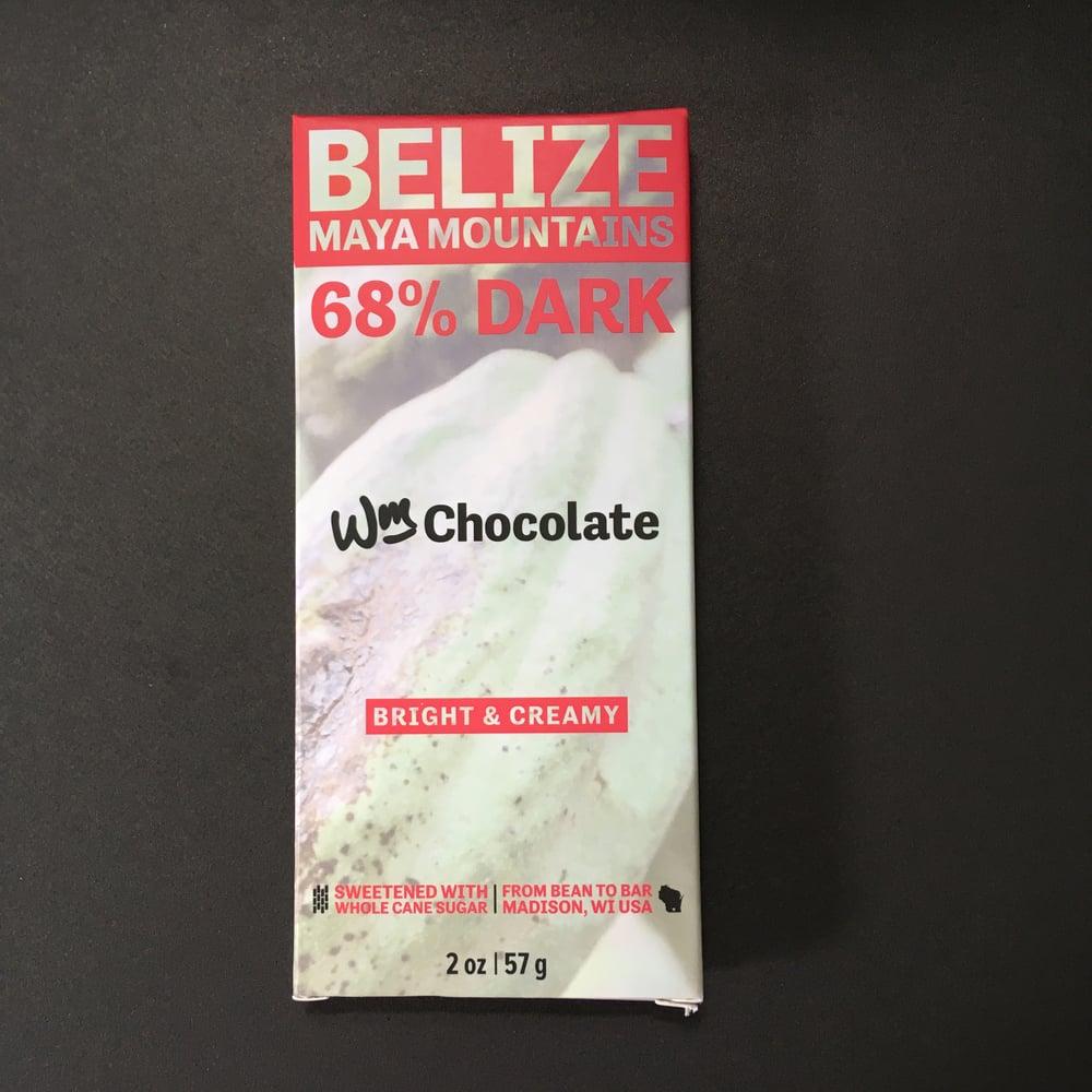 Image of Wm. Chocolate 68% Belize Dark Chocolate