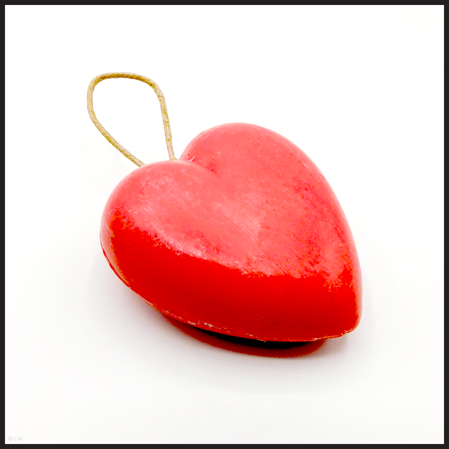 Love you longtime: Heart Soap On A Rope