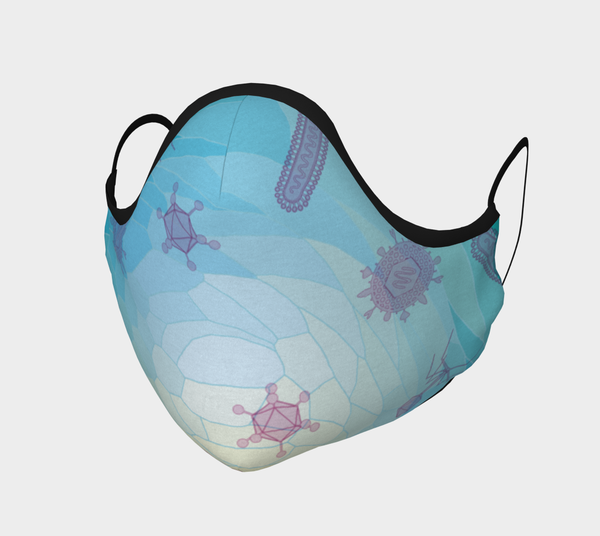 Image of Geometric Virus Face Mask - Blue