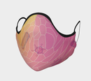 Image 1 of Geometric Virus Face Mask - Pink