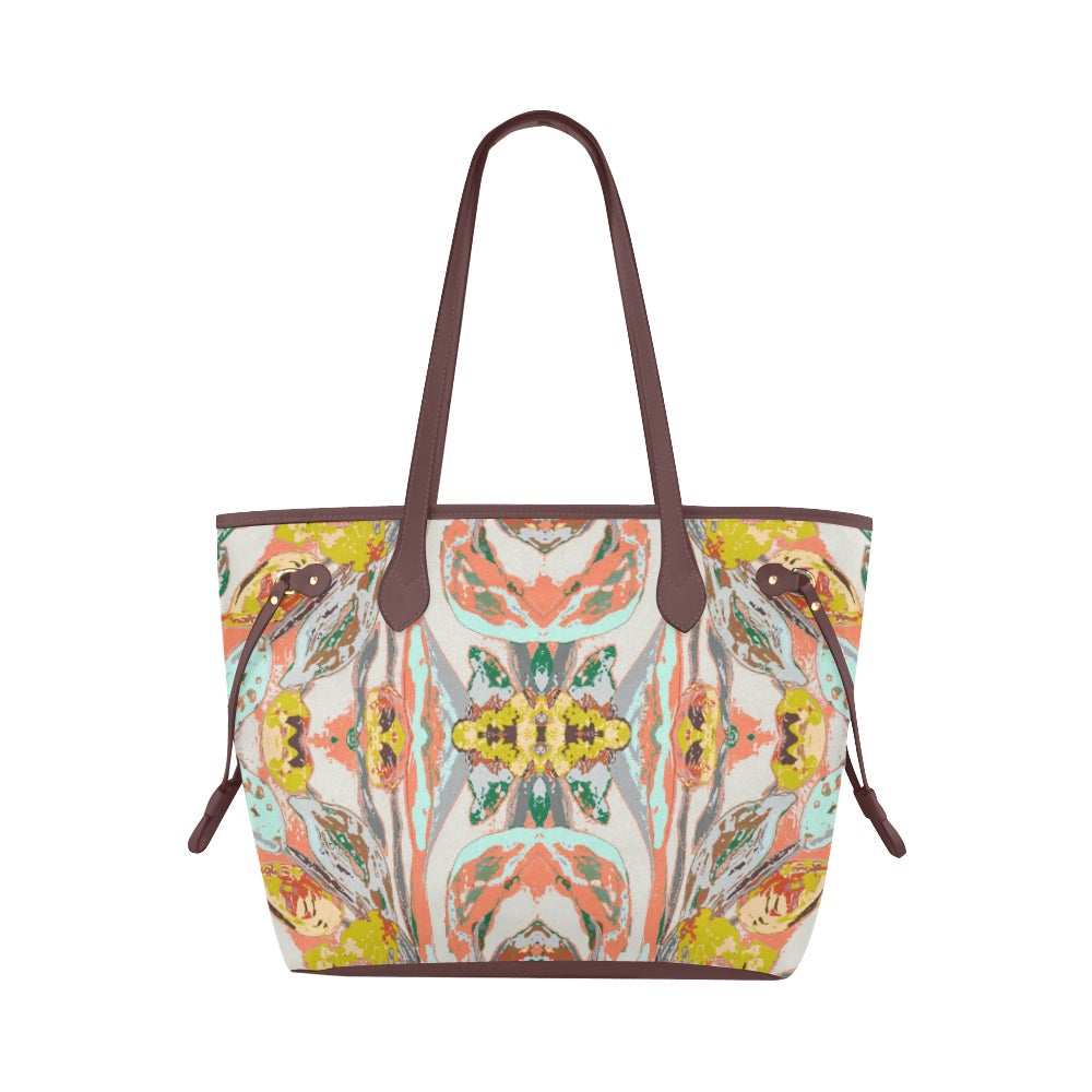 Image of Tangerine Iris Waterproof Tote