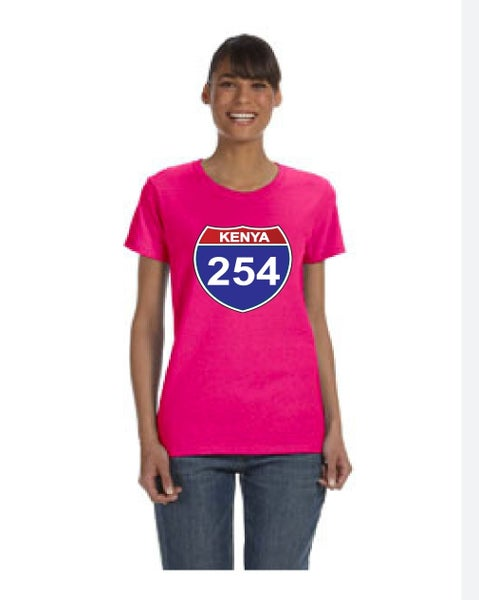 Image of 254 pink female t-shirt