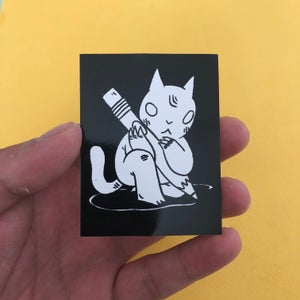 Image of Pencil Cat Sticker