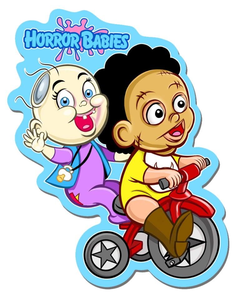 """Horror Babies Best Buddies 5"""" Sticker"""