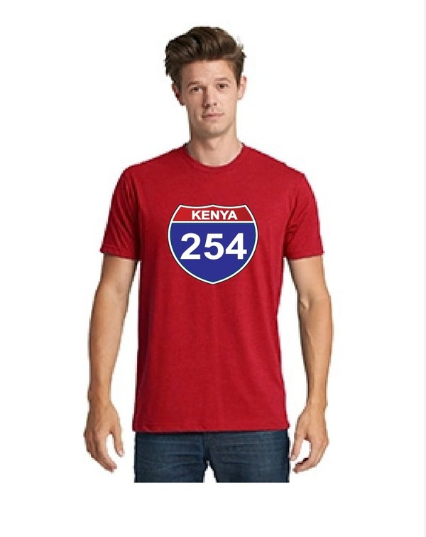 Image of 254 fitted red tshirt