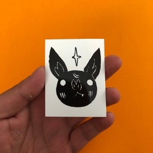Image of Bat Head Sticker