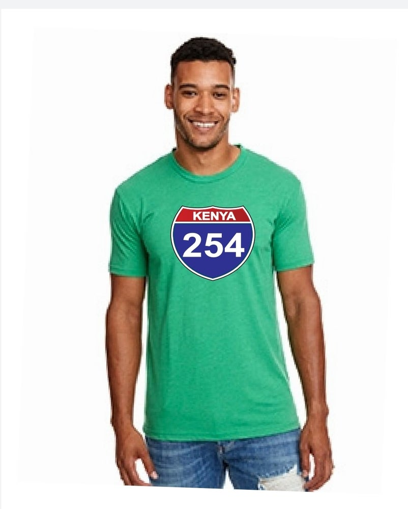 Image of 254 fitted green tshirt