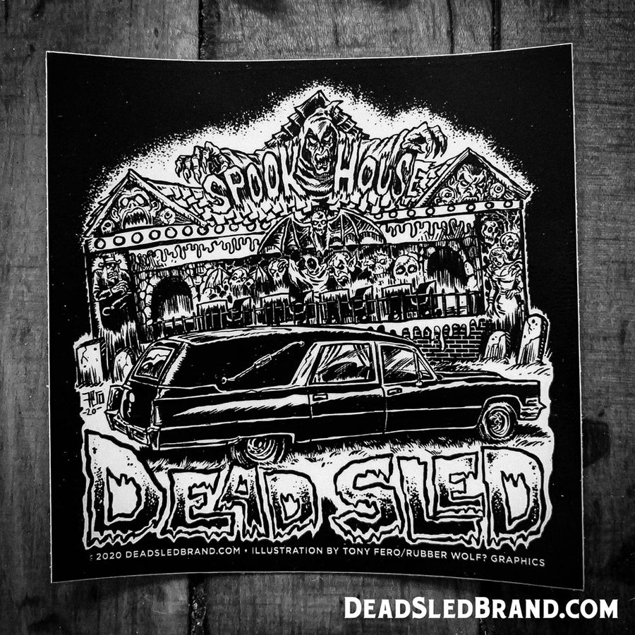 Image of SpookHearse 4-inch Sticker
