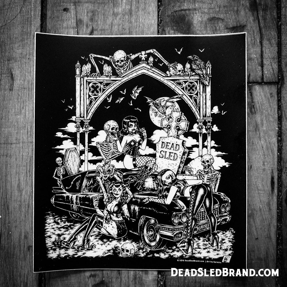 Image of Dead Sled Dames 5-Inch Sticker