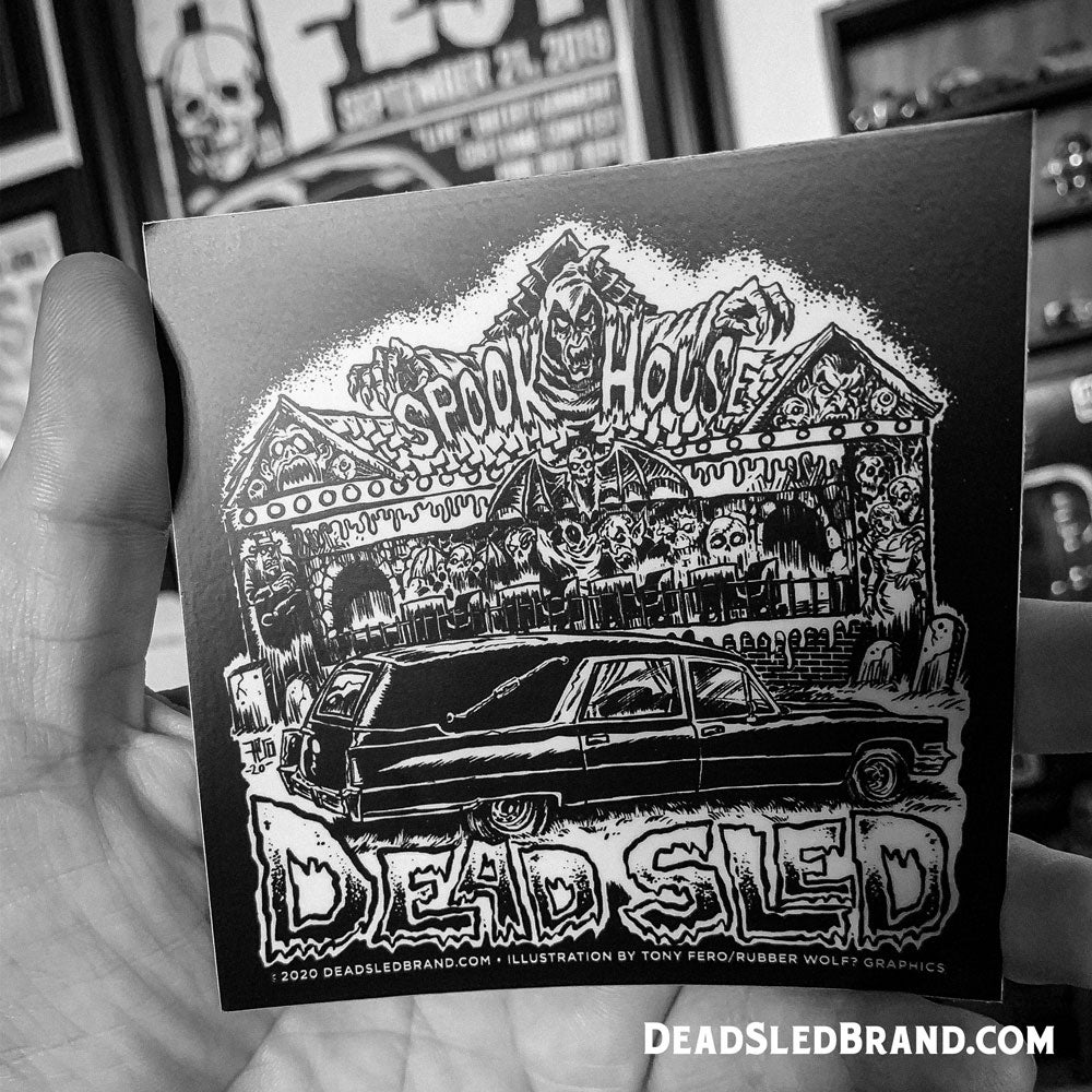 Image of SpookHearse 4-inch Sticker
