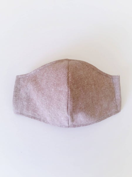 Image of MENS Mask - Mocha Linen