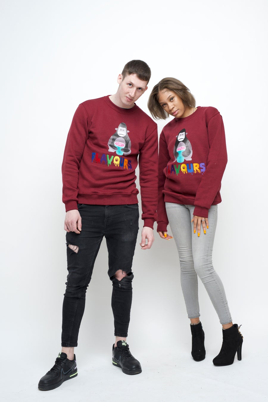 Image of Rich Rich Sweatshirt - Burgundy