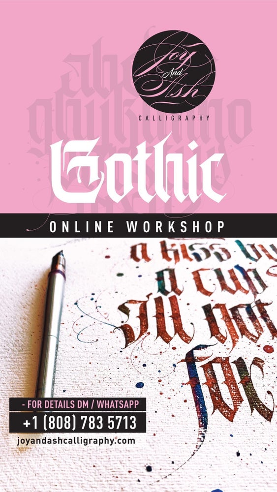 Image of ONLINE WORKSHOP - GOTHIC/BLACKLETTER SCRIPT - FLEXIBLE PAYMENT OPTION*