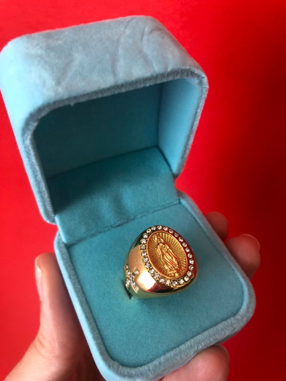 Image of OUR LADY OF GUADALUPE GEM RING