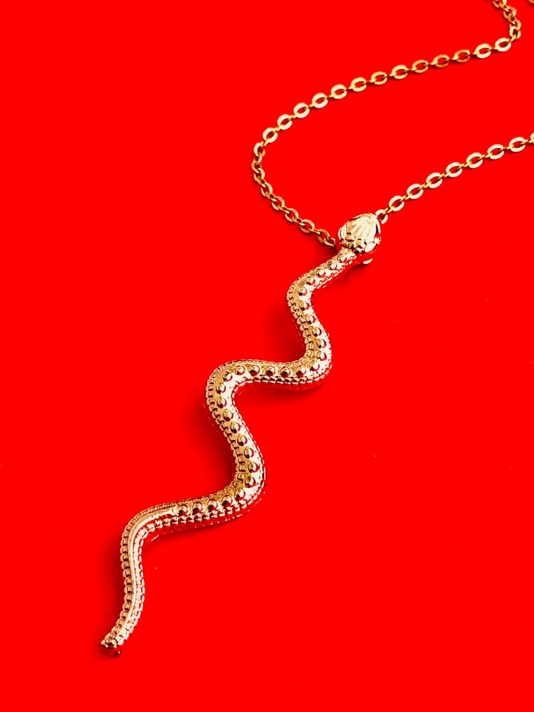 Image of SNAKE DROP NECKLACE