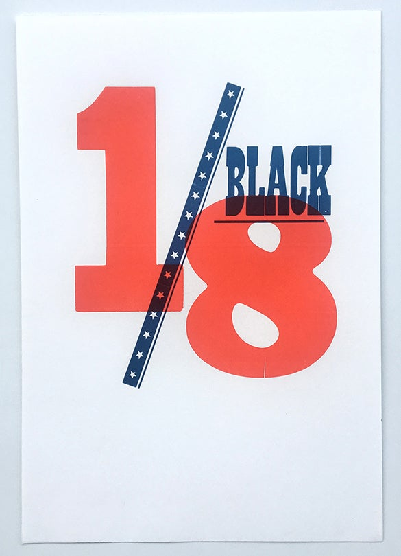 Image of 1/8 Black Poster
