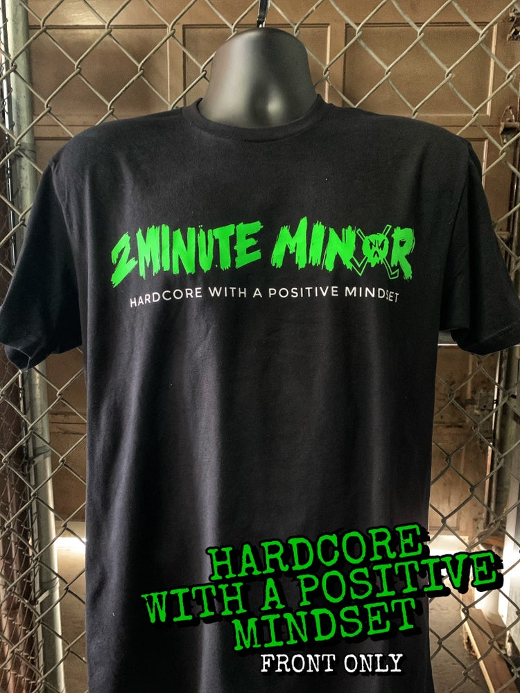 Image of Positive Mindset - Neon Green on Black T-Shirt