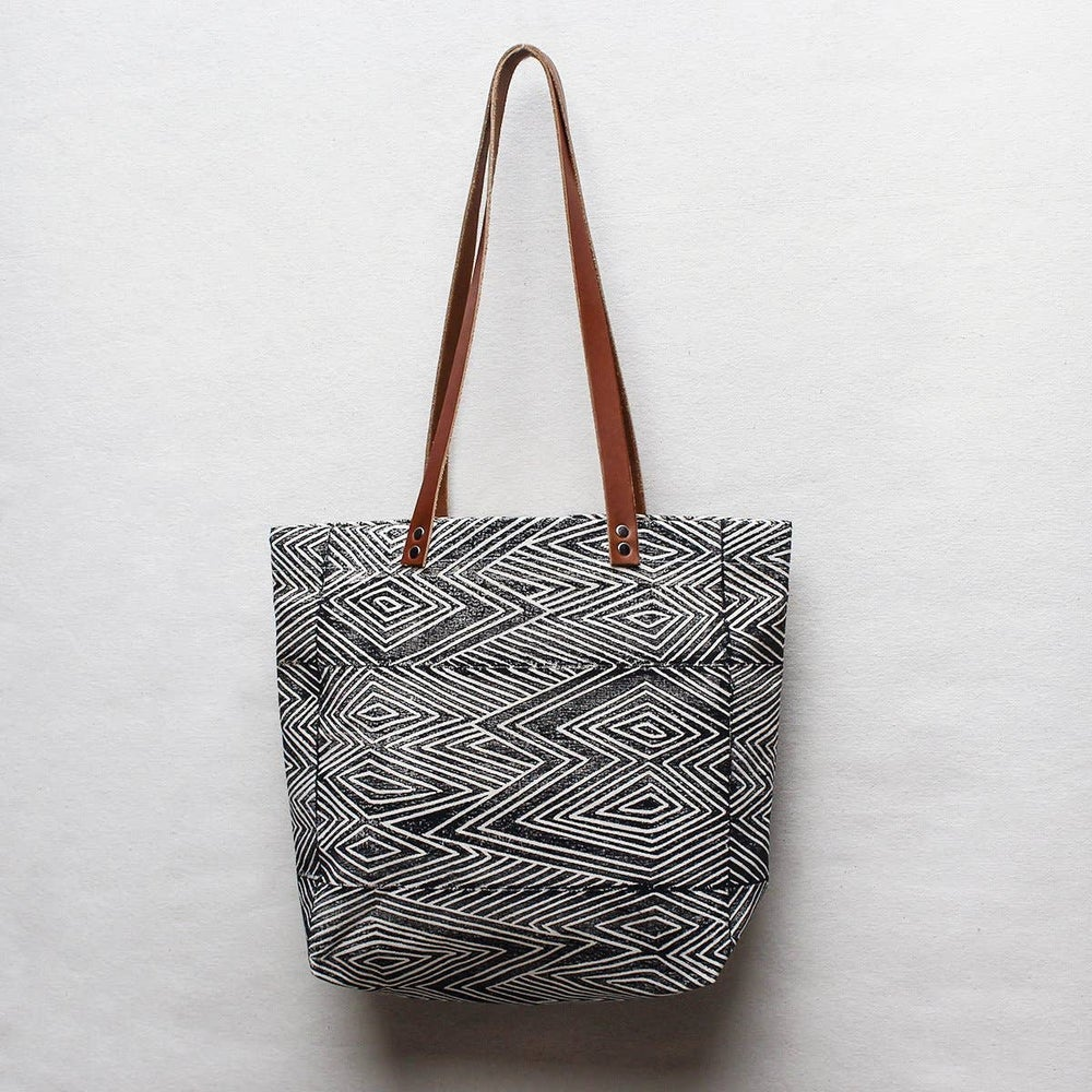 Image of Flame Block Printed Tote