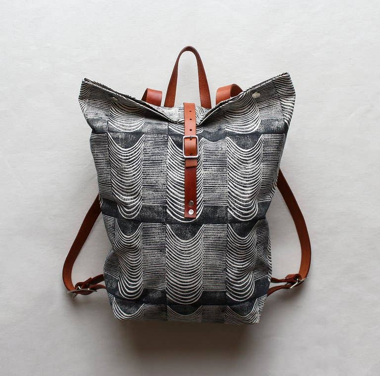 Image of Wave Print Backpack