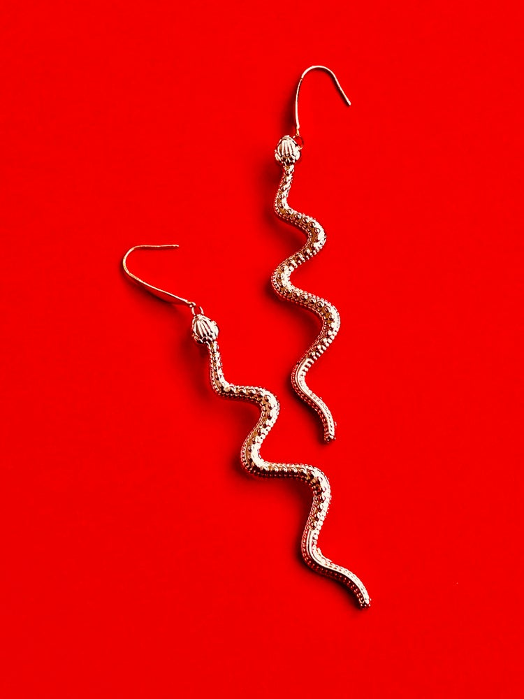 Image of LONG SNAKE EARRINGS