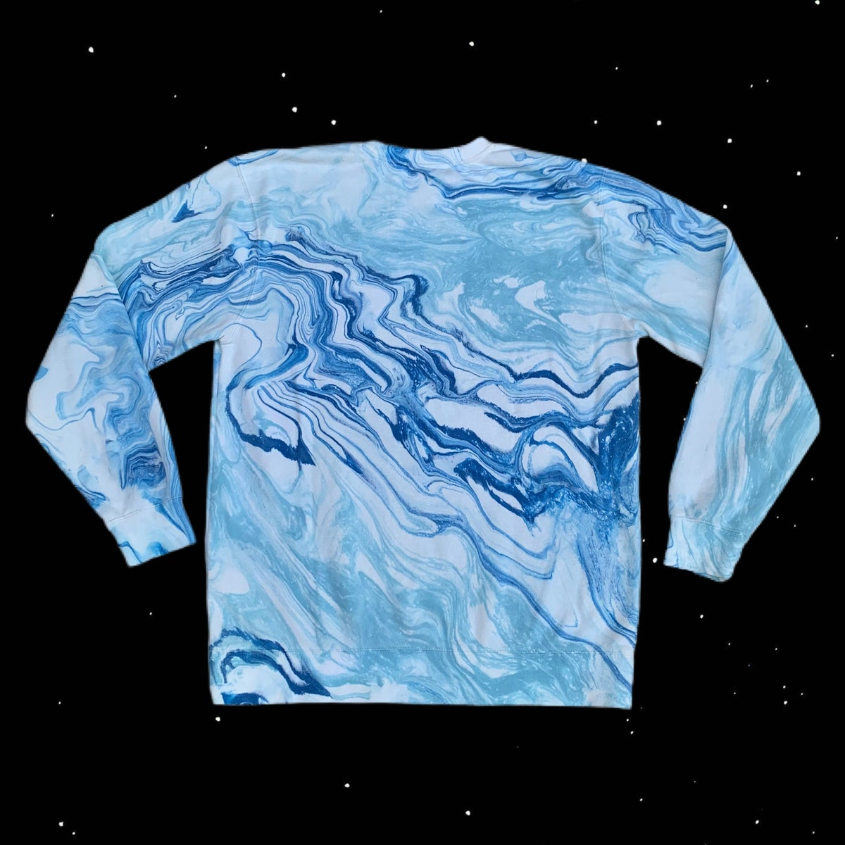 Blue Dream Hand Marble Dyed Unisex Crew Neck Sweatshirt! - PRE-ORDER!