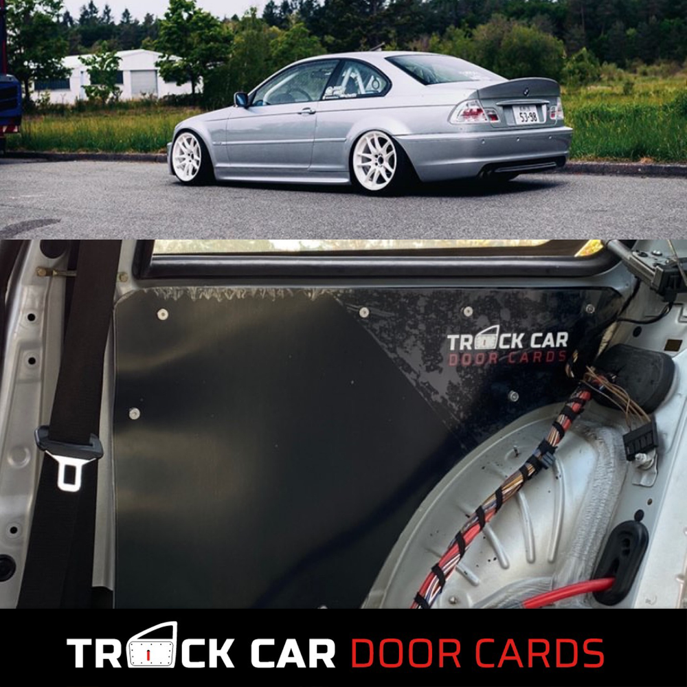 Image of BMW e46 coupe rear panels - Track Car Door Cards