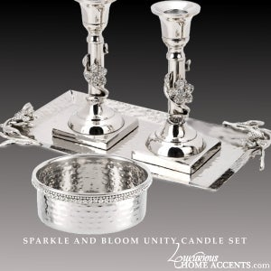 Image of Sparkle and Bloom Unity Candle Set