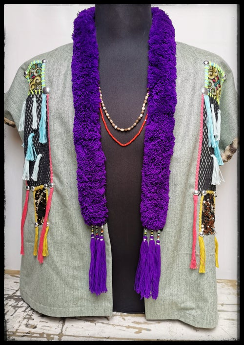 Image of Green Mien Poncho