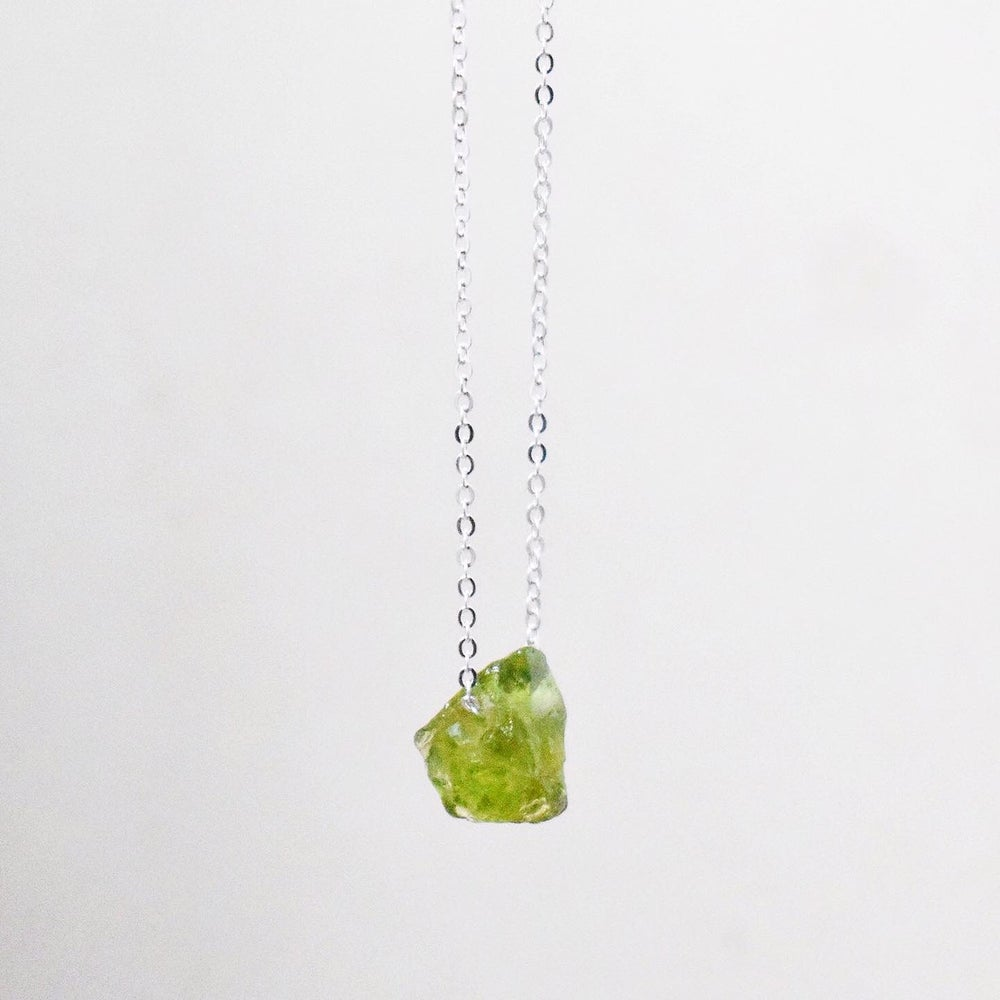 Image of Natural Vietnam Rough Periot necklace