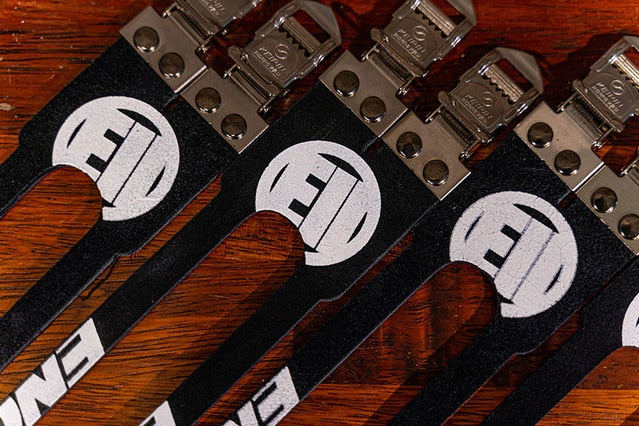 Image of ENGINE11 Laminated Leather Double Toe Straps