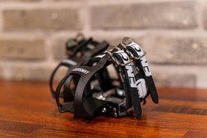 Image of ENGINE11 Laminated Leather Double Toe Straps